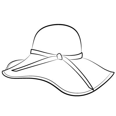 Drawn hat womens hat Hat) the field A hat