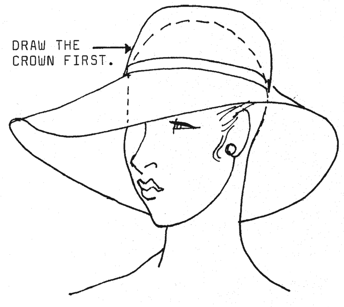 Drawn hat womens hat Then the ellipse If hat
