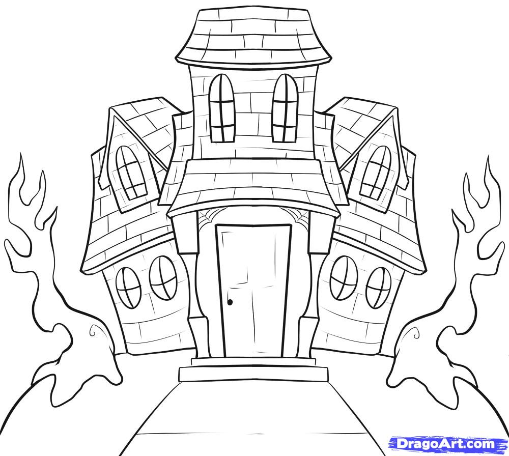 Drawn haunted house By Step house House