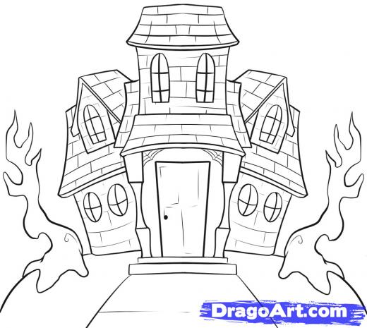Drawn haunted house House How a Haunted Draw