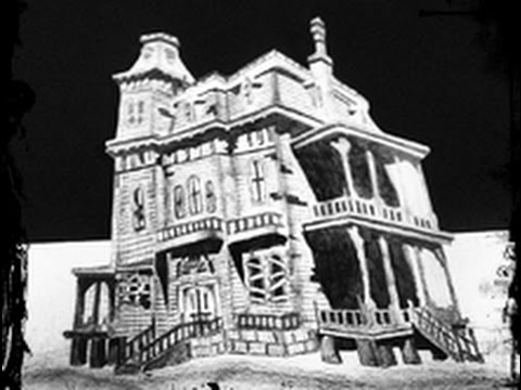 Drawn haunted house On drawing Happy drawing a