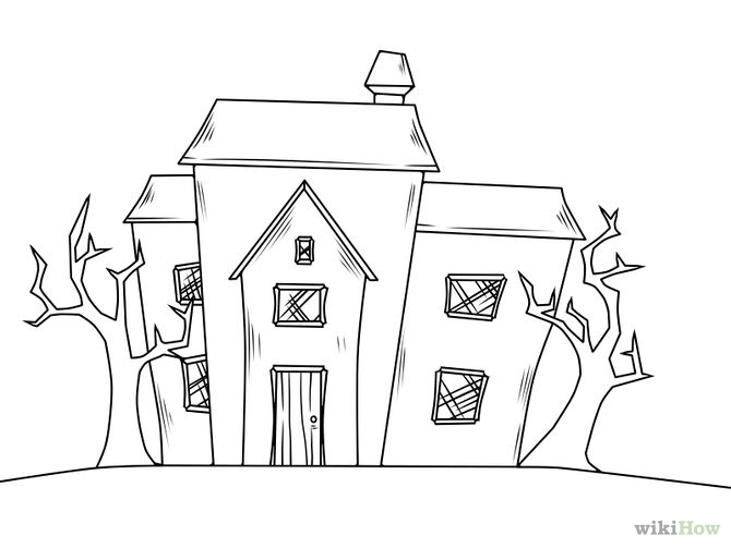Drawn haunted house Architecture Houses Drawing Gallery House
