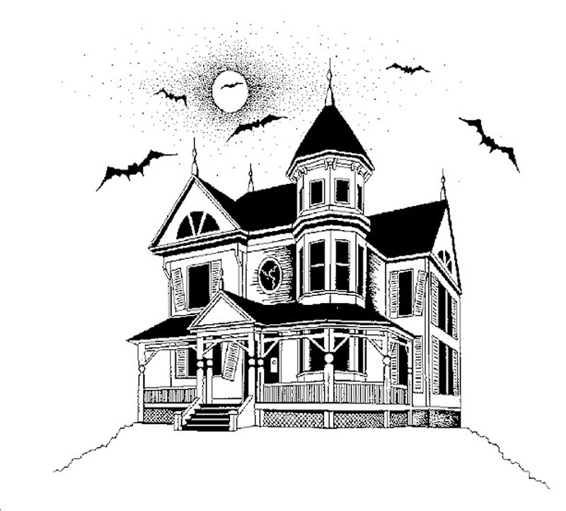 Drawn haunted house  haunted To drawing Google
