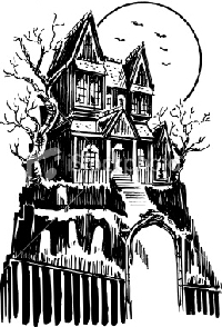 Drawn haunted house Draw ATC: Haunted House ATC:
