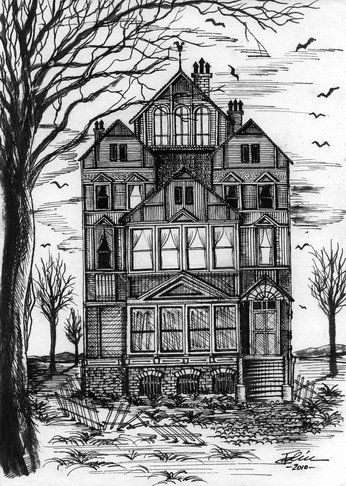 Drawn haunted house abandoned house Great about Haunted 203 images