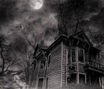 Drawn haunted house abandoned house In I one night Get