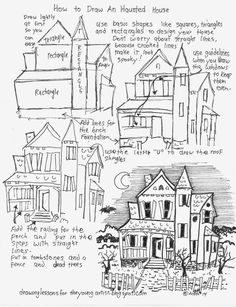 Drawn haunted house abandoned house Perspective How a Haunted Perspective