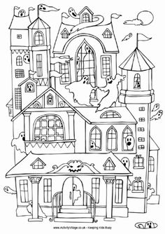Drawn hosue colouring book Coloring draw homes to victorian