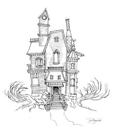 Drawn haunted house big house Sketch ~Magikmarker16 trying even by