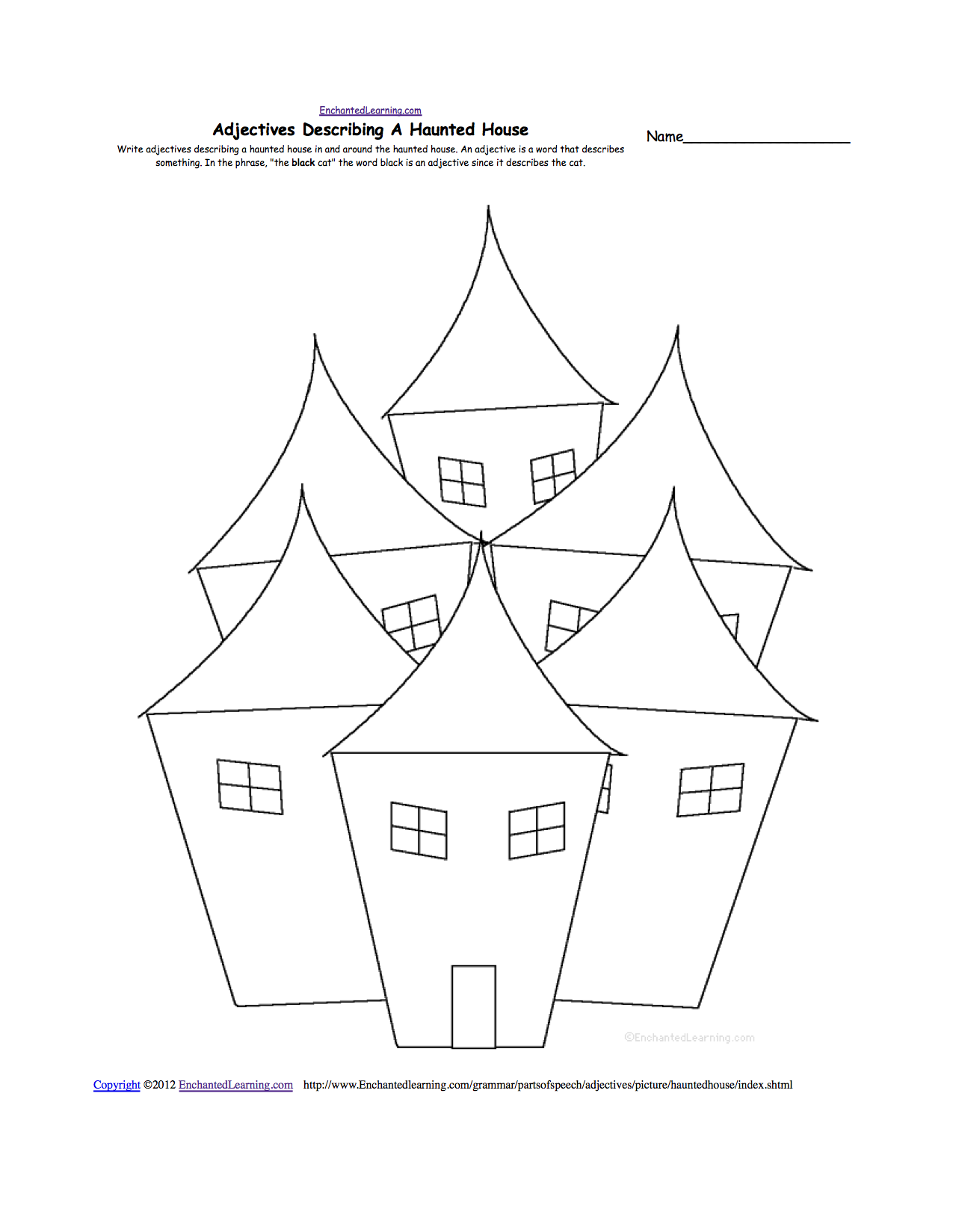 Drawn house horror house At house com Other EnchantedLearning