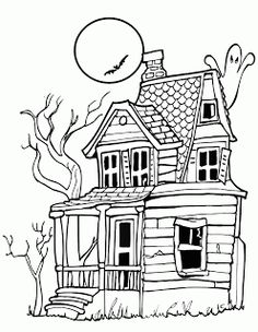 Drawn haunted house classic Spooky Drawings Collection typat Spooky