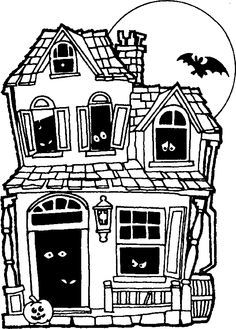 Drawn house horror house My Pen haunted Halloween Memories: