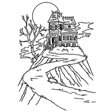 Drawn haunted house creepy house House on House Pages Free