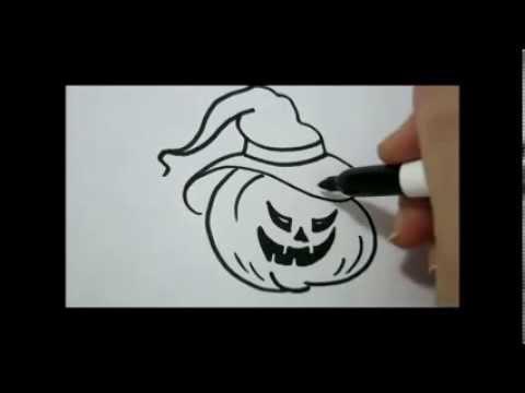 Drawn pumpkin simple Draw How Face Easy Pumpkin