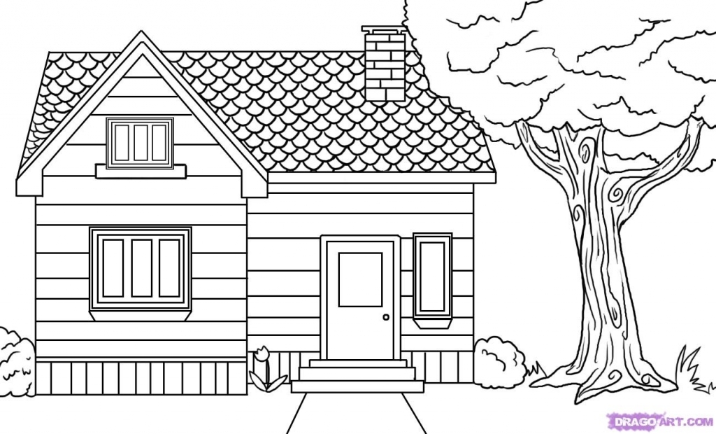 Drawn haunted house easy draw Tag: haunted Pencil Drawing drawing
