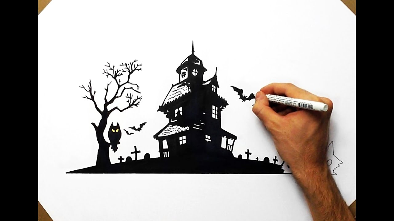 Drawn haunted house easy draw House YouTube Haunted How How