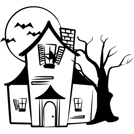 Drawn haunted house easy draw House and Haunted houses Emoticon