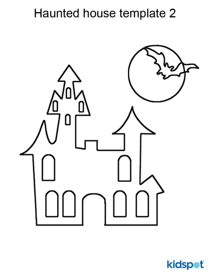 Drawn haunted house geometric Model Craft paper kidspot drawn