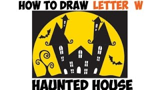 Drawn haunted house geometric How Step W) House by