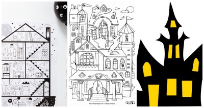 Drawn haunted house geometric Haunted 3 one through activities