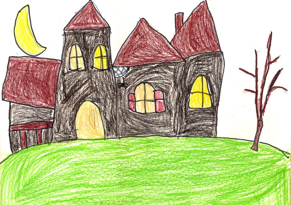 Drawn haunted house geometric A How Draw A Projects