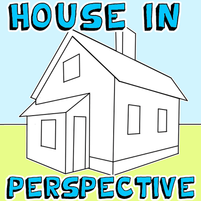 Drawn haunted house geometric Perspective Draw Easy Point a