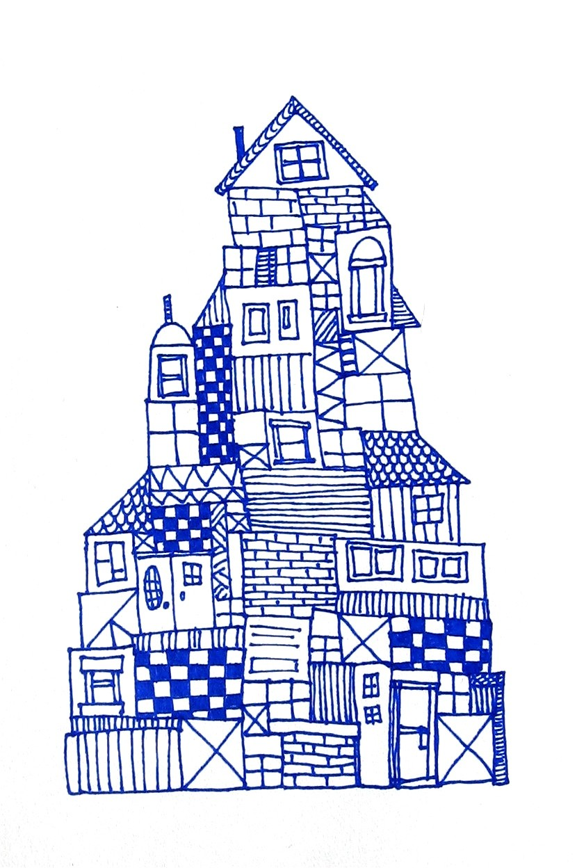 Drawn haunted house geometric Cats 25 Draw Pinterest about