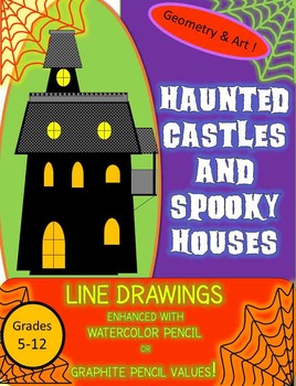 Drawn haunted house geometric Houses  and Haunted Spooky