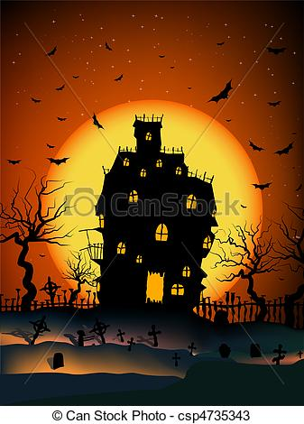 Drawn haunted house haunted graveyard House Vector House Haunted Haunted