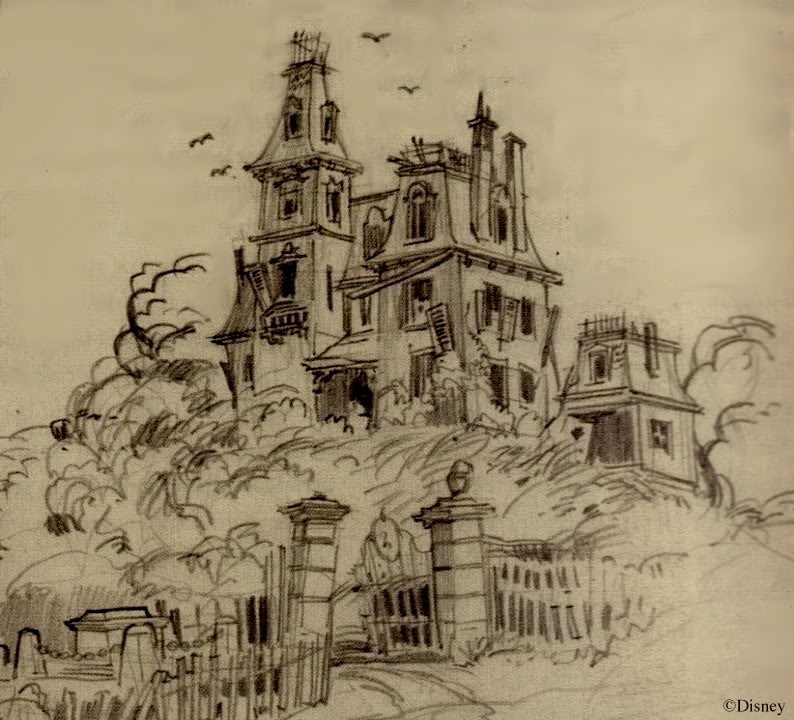 Drawn haunted house haunted graveyard First Long to on Unknown