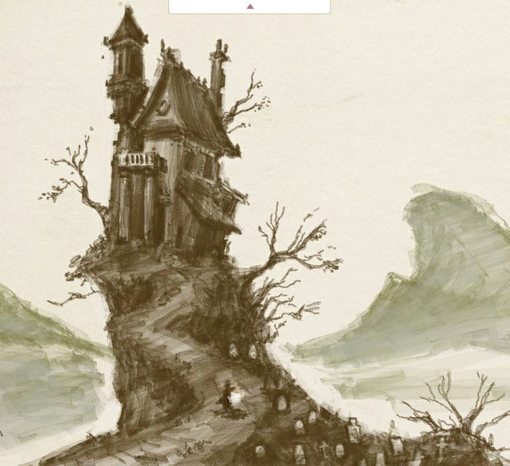Drawn haunted house haunted graveyard Draw 25+ house house Haunted