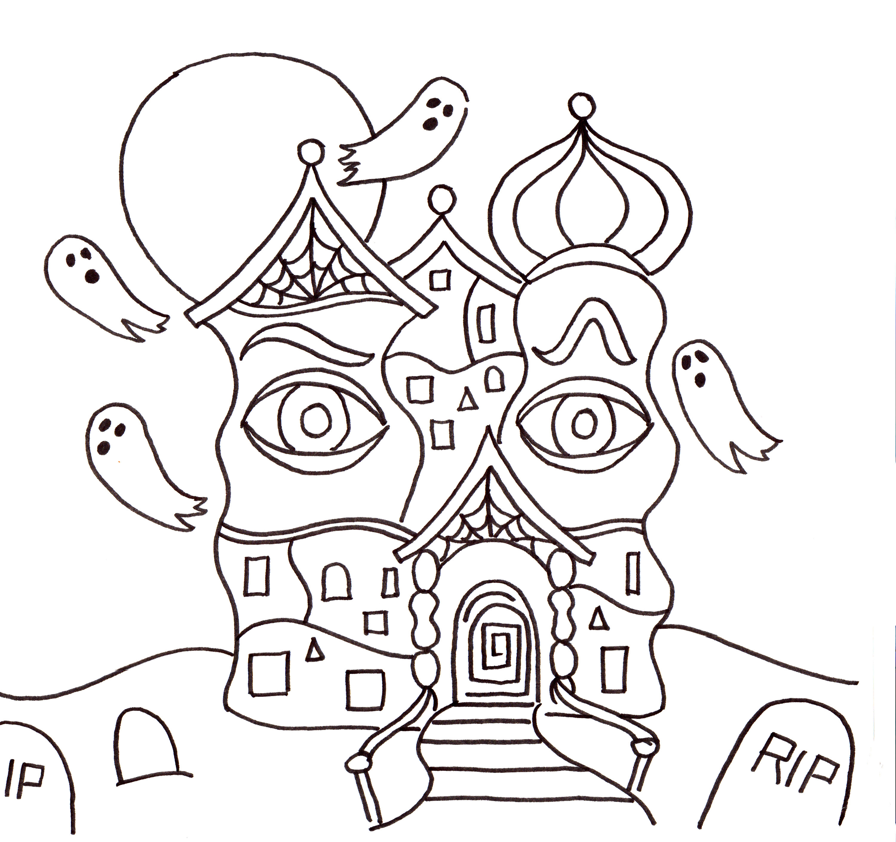 Drawn haunted house haus Lesson House Lesson House Connection