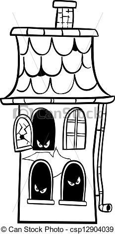 Drawn haunted house haus Haus haus clipart Kaputtes clipart