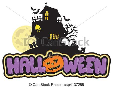 Drawn haunted house haus Vector with vector haunted