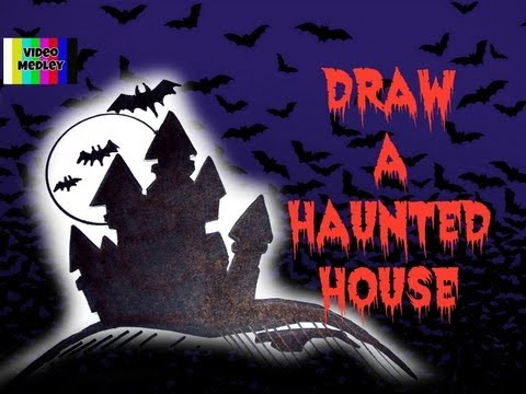 Drawn house ghost house To How Halloween YouTube To