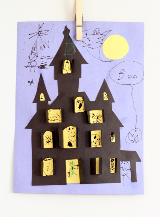 Drawn haunted house kid Haunted house project DIY /