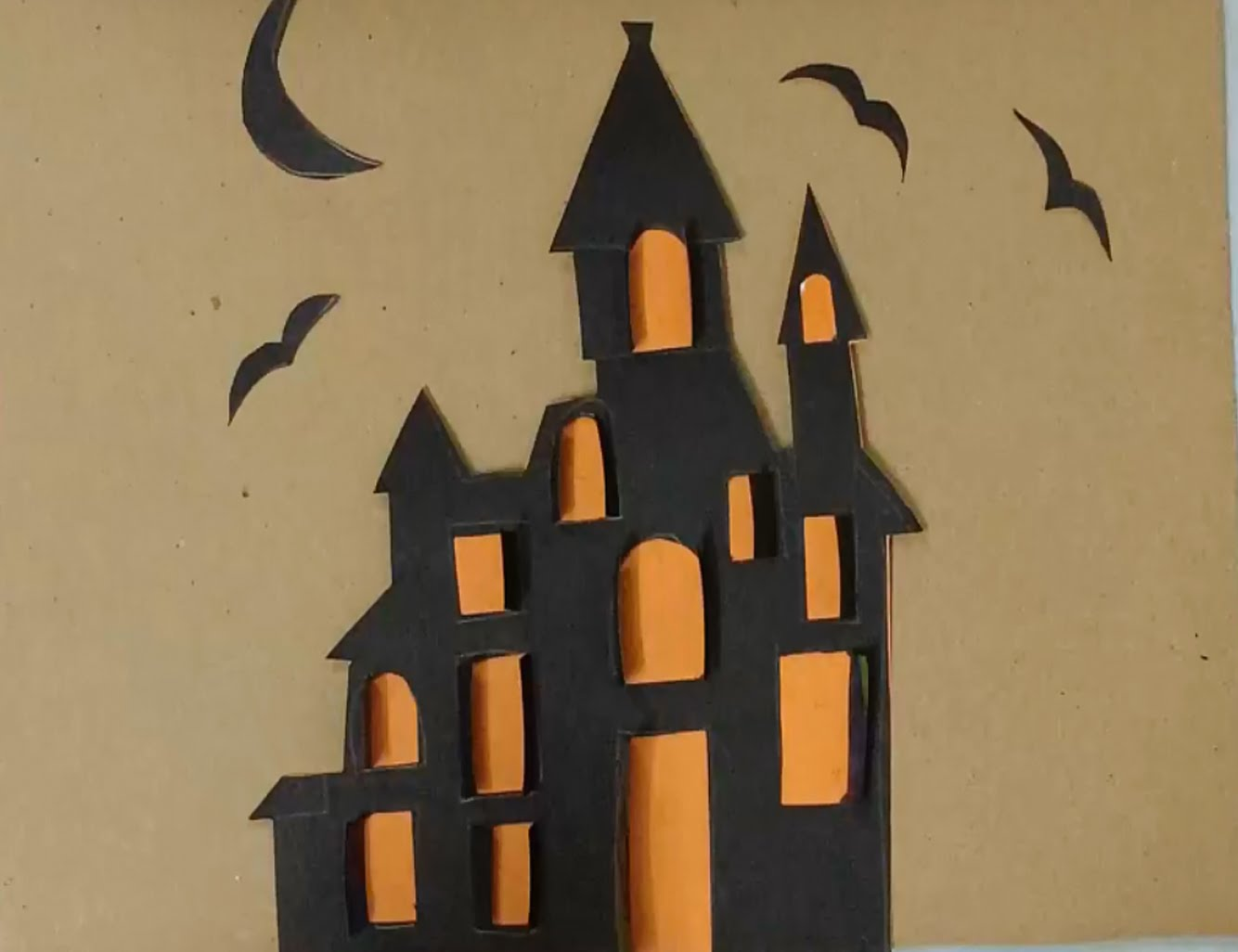 Drawn haunted house kid To art to a halloween