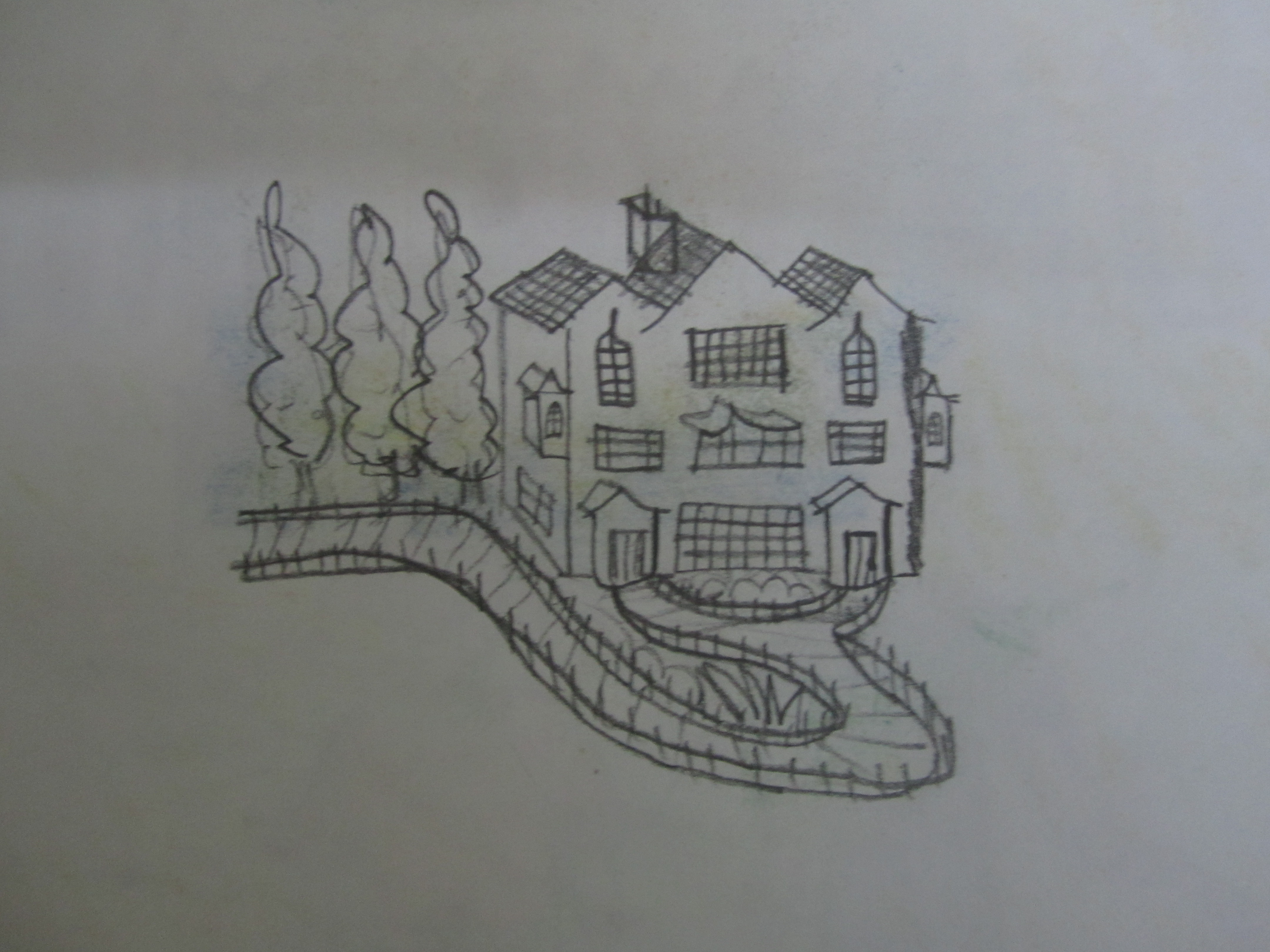 Drawn haunted house line drawing simple Mansion? old crawling haunted of