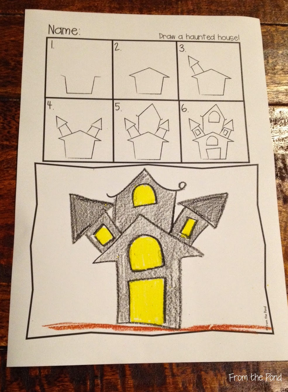 Drawn haunted house line drawing simple House Haunted House Free New