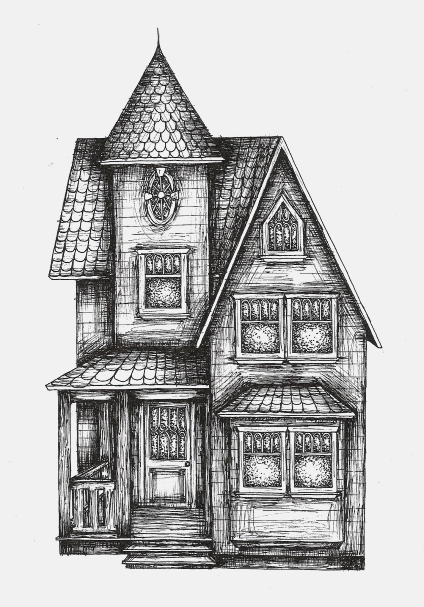 Drawn building old victorian house Pinterest sarah3318 victorian house sarah3318