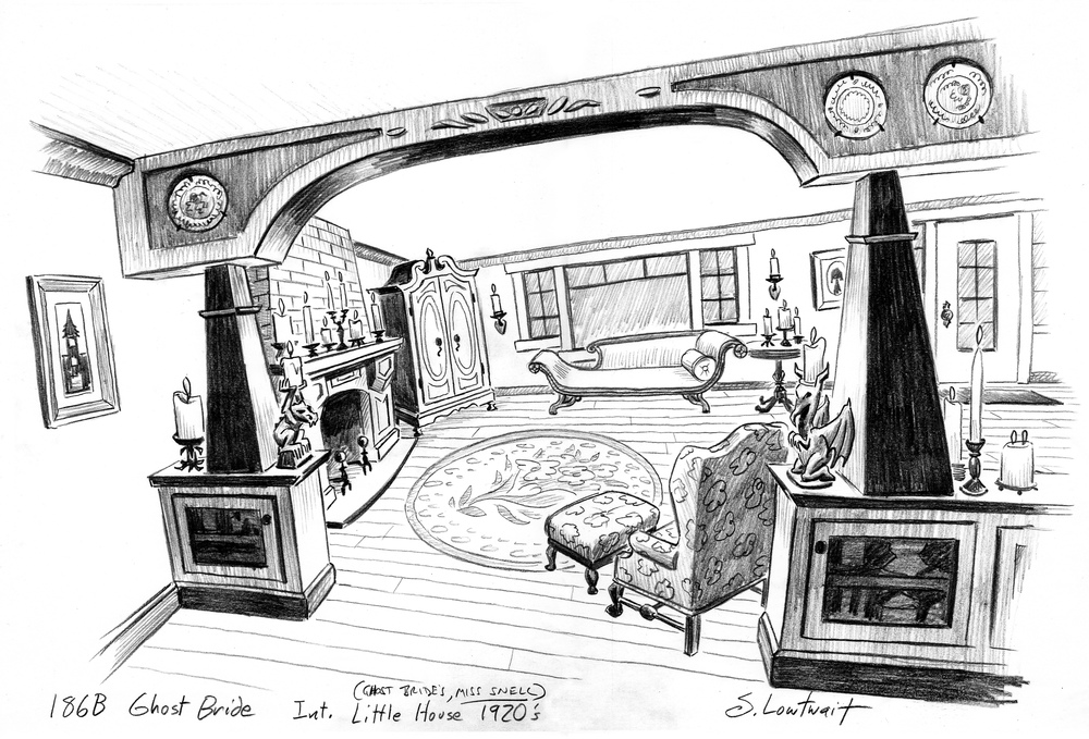 Drawn room haunted Art Artwork is interior with