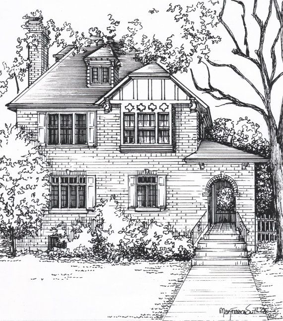 Drawn steampunk house Drawing Custom custom and commissioned