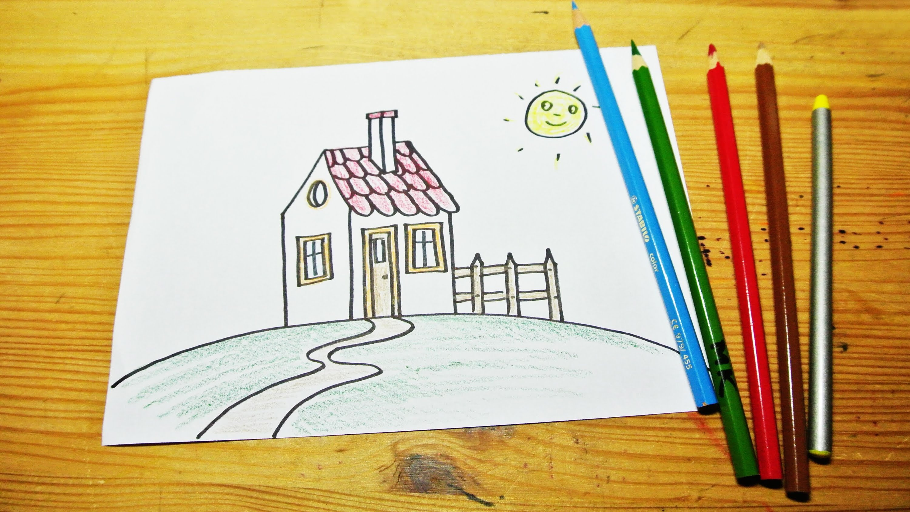 Drawn haunted house pakka Kids) draw how (for a