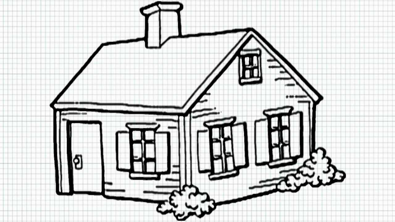 Bungalow clipart pretty house YouTube draw to kids