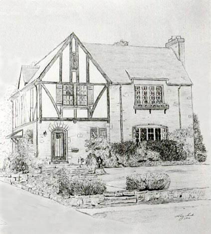 Drawn haunted house pakka Graphite by Pen with shading