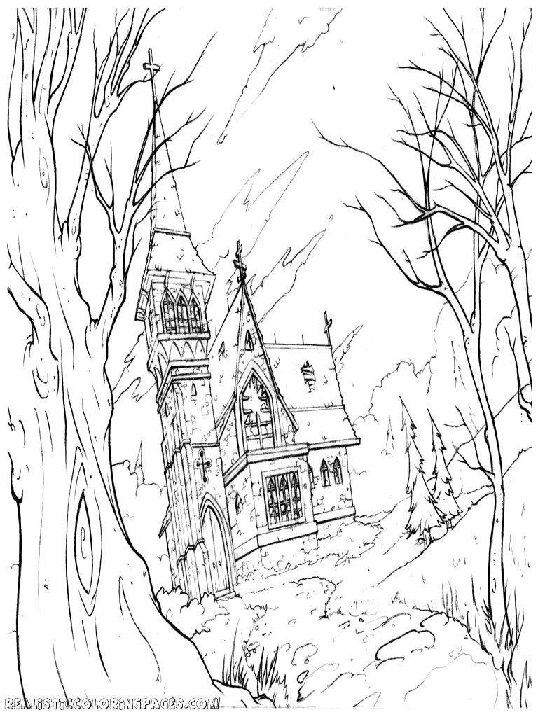 Drawn haunted house realistic Pages Realistic 5 For Inside