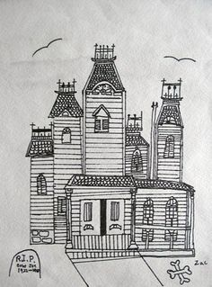 Drawn room haunted House House Pinterest Drawings How