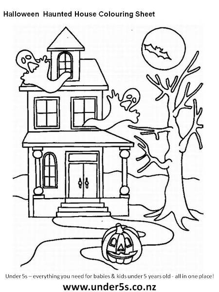 Drawn haunted house step by step Haunted Kids haunted Free for