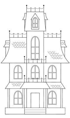 Drawn haunted house step by step House made nl) www