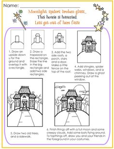 Drawn haunted house step by step Seasonal Halloween  Grandma!: How